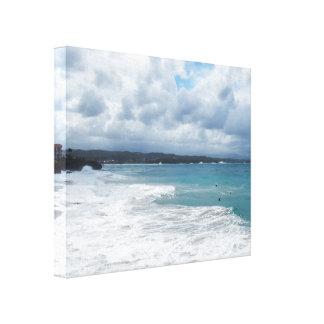 Toile Jour orageux à la plage