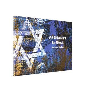 Toile La barre Mitzvah d'étoile de Mogen David signent