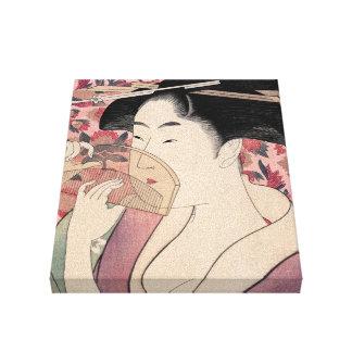 Toile La beauté orientale, Kushi par Kitagawa Utamaro