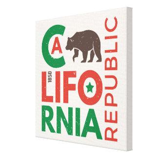 Toile La Californie avec le logo d'ours gris