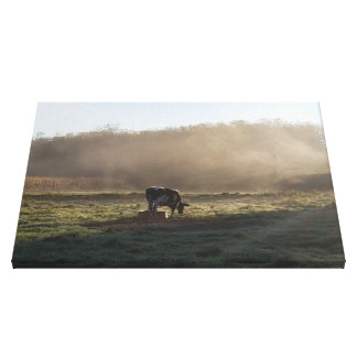 Toile La campagne brumeuse