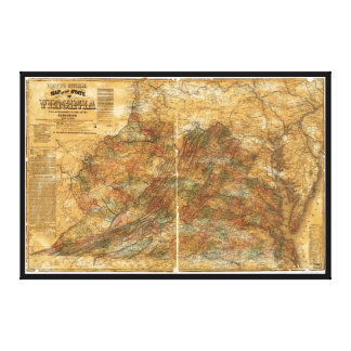 Toile La carte officielle de Llyod de la Virginie (1861)
