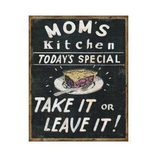 Toile La cuisine de la maman