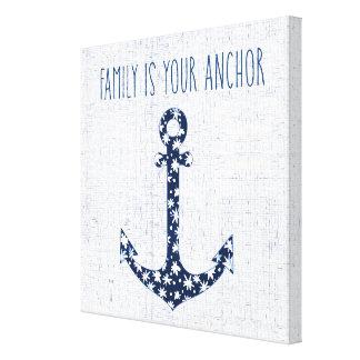 Toile La famille nautique de la citation | est votre