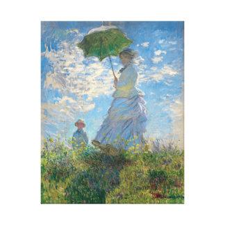 Toile La femme de Monet reconstitué avec un parasol la