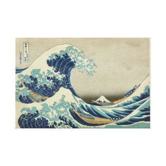 Toile La grande vague outre de Kanagawa - Katsushika