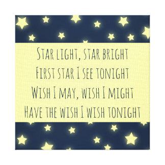 Toile La lumière d'étoile, tiennent le premier rôle la