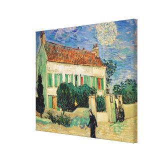 Toile La Maison Blanche de Vincent van Gogh   la nuit,
