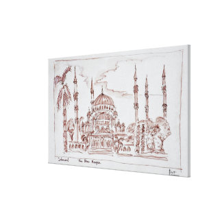 Toile La mosquée bleue   Istanbul, Turquie