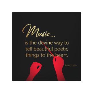 Toile La musique est la manière de devine de dire des