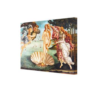 Toile La naissance de Botticelli de Vénus a reconstitué