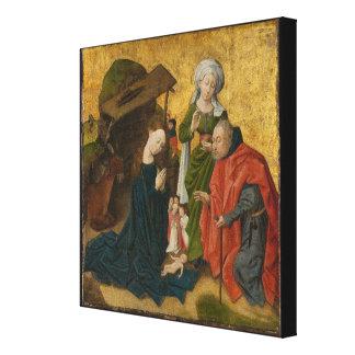 Toile La nativité, circa 1460