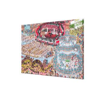 Toile Là où est la chanson et la danse énormes de Waldo