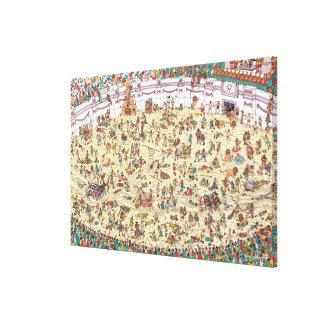 Toile Là où est l'amusement et les jeux de Waldo | à