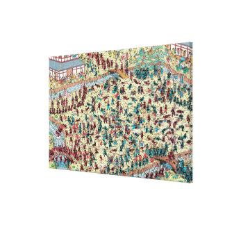 Toile Là où est le problème de Waldo | au vieux Japon