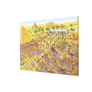 Toile Là où est l'énigme de Waldo | des pyramides