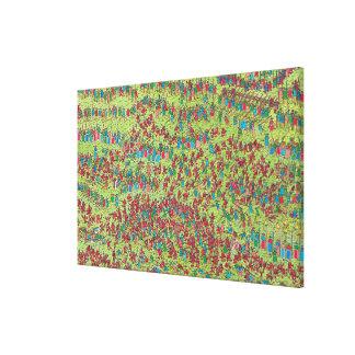 Toile Là où est les nains rouges féroces de Waldo |