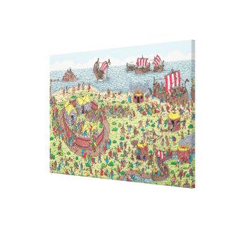 Toile Là où est Waldo   en tournée avec les Vikings