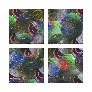 Toile La pelouse roule art abstrait coloré,