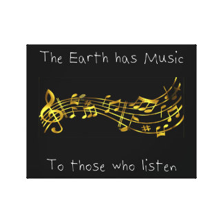 """Toile """"La terre a la musique en ceux qui écoutent """""""