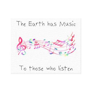 """Toile """"La terre a la musique en ceux qui écoutent"""" (le"""