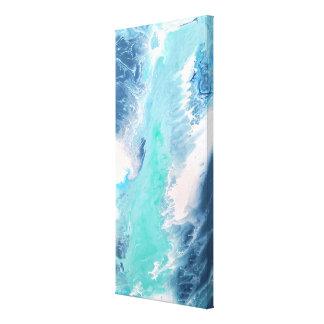 Toile La turquoise bleue ondule l'eau liquide d'art
