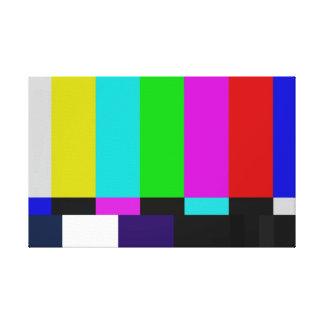 Toile La TV barre l'essai de couleur
