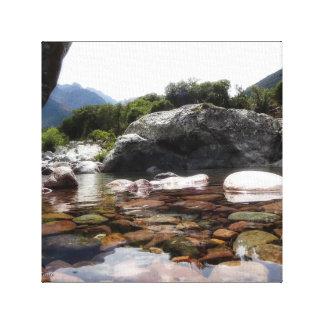Toile La Vallée du Fango et sa rivière