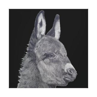 Toile La vie originale d'âne mignon aiment dessiner