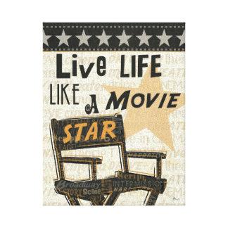 Toile La vie vivante aiment une star de cinéma