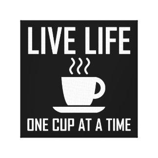 Toile La vie vivante un buveur de thé de café de tasse à