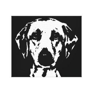 Toile Labrador noir et blanc ont enveloppé la copie de