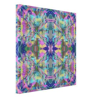 Toile Labyrinthe de couleurs