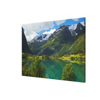 Toile Lac Floen pittoresque, Norvège