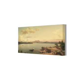 Toile Lac vintage George par Martin Johnson Heade