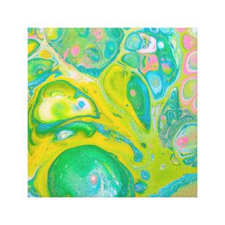 Toile L'acrylique psychédélique vert versent l'art