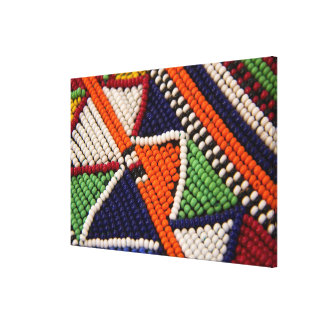Toile L'Afrique, Kenya. Perles de tribal de Maasai