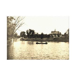 Toile lagune Pavillion de seigneurs Park Elgin