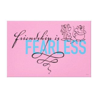 Toile L'amitié de Cendrillon | est courageuse