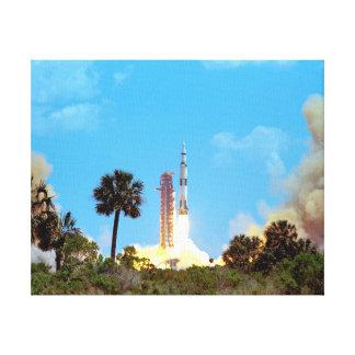 Toile Lancement de la NASA Apollo 16 Fusée Saturn v