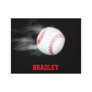 Toile Lancez le joueur d'équipe de baseball de boule