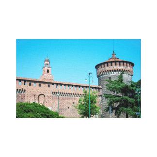 Toile Landm d'architecture de l'Italie Milan de tour de