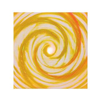 Toile L'ange d'or s'envole le vortex en spirale