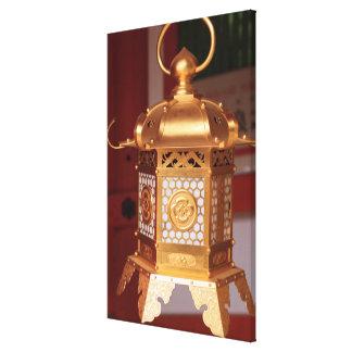 Toile Lanterne japonaise d'or