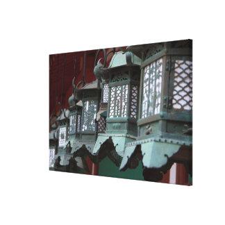 Toile Lanternes japonaises en métal