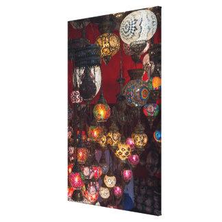 Toile Lanternes turques au marché