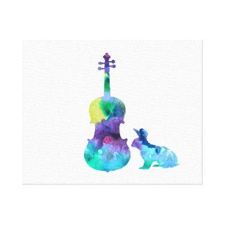 Toile Lapin avec l'art d'alto