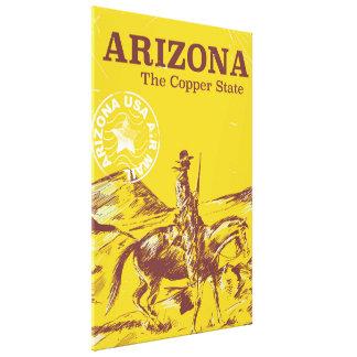 Toile L'Arizona l'affiche vintage de voyage d'état de