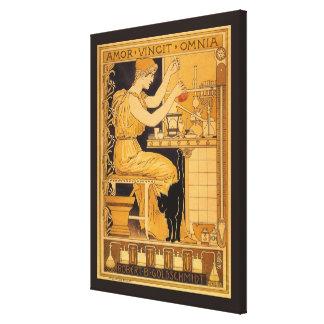Toile L'art vintage Nouveau, amour conquiert tout le