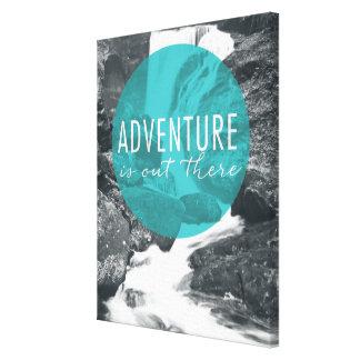 Toile L'aventure des rivières   est là citation